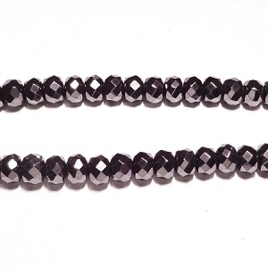 Black spinel 07(natural), hand-cut bead, B grade 8*6mm fac roundlle beads
