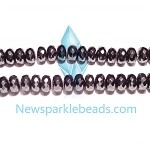 Black spinel 06(natural), hand-cut bead, B grade 6*4mm fac roundlle beads