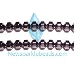 Black spinel 08(natural), hand-cut bead, B grade 12*6mm Drum