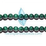 Malachite02 10mm round beads