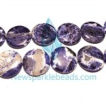 Sodalite10 (natural), 30mm flat round, B grade,