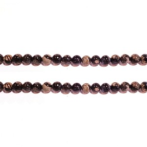 black opal 4×6mm roundlle beads