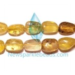 QT-L03 Lemon Quartz chips  26*16mm B grade
