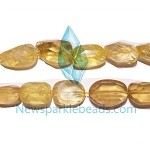 QT-L04 Lemon Quartz chips  26*18mm B grade