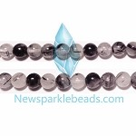 TQ3 Beads , 6mm round , Toumalited Quartz