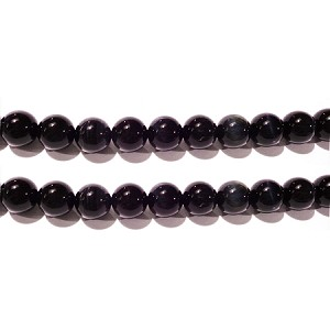 Blue tiger eye 6mm round beads