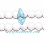 AG-BW01 , Beads , 18mm , round white agate