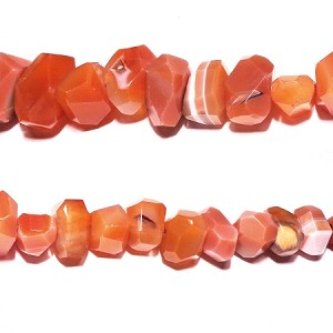 AG-R4 Beads , red agate handcut , small to large nugget , 12*8mm-18*15mm