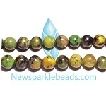 Green Grass Agate04 8mm Round  Beads
