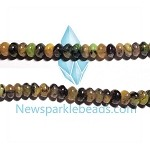 Green Grass Agate05  8*4mm Roundlle  Beads