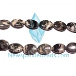 Green Grass Agate09 14*10mm Oval Beads