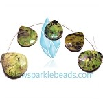 Green Grass Agate13   Teardrop  Beads
