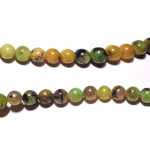 Green Grass Agate02 6mm Round  Beads