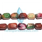 AG-Mix10 Beads , mixed agate handcut  nugget