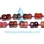 AG-Mix11 Beads , mixed agate handcut  nugget