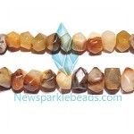 AG-Mix19 Beads , mixed agate handcut  nugget