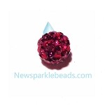 Crystal color ball-Rose