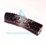 Long  Crystal  Spacer Black