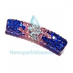 Long  Crystal  Spacer Blue