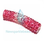 Long  Crystal  Spacer Pink
