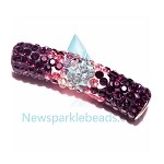 Long  Crystal  Spacer Purple