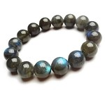 Bracelet, 8 mm  Labradorite, (a Stone of Magic, a crystal of shamans, diviners, healers, and all who travel and embrace the universe seeking knowledge and guidance)
