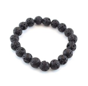 Bracelet, Bracelet, Hand-made, Foue strands, Larva Rocks(a Stone symbolizes rebirth and getting rid of unwanted emotions), 8mm