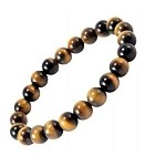 Bracelet, 8mm Tiger eye, It is also great for protection. Its tiger-like appearance symbolizes the earthy power of protection, which makes the stone great for house or self-protection.