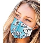 Face Mask, 100% cotton, Double-layer, Size 6.7 in. X 5.5 in