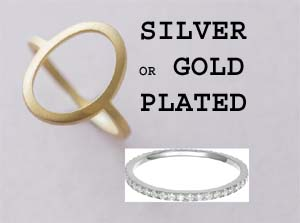 Silver or Glod Plated
