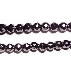 Black spinel 01(natural), hand-cut bead, B grade 10mm fac round beads