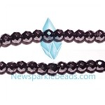 Black spinel 03(natural), hand-cut bead, B grade 6mm fac round beads