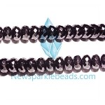 Black spinel 05(natural), hand-cut bead, B grade 10*6mm fac roundlle beads