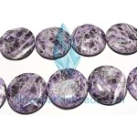 Sodalite11 (natural), 30mm flat round, C grade,