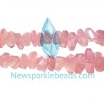 QT-R04 Rose Quartz handcut chips  22*10mm B grade