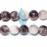 TQ4 Beads , 18mm fac , round , Toumalited Quartz