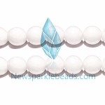 AG-BW03 , Beads ,14mm , fac round , white agate