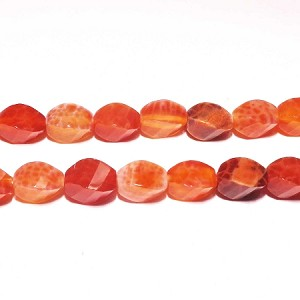 AG-R8 Beads , red agate handcut  nugget, 12*6mm