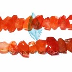 AG-R2 Beads , red agate handcut , 15*10mm