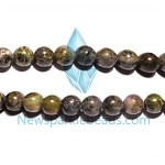 Green Grass Agate01 12mm Round  Beads