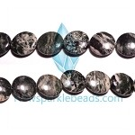 Green Grass Agate11 20mm Flat Round  Beads