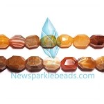 AG-Mix12 Beads , mixed agate handcut  nugget