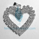White Crystal  Charms 16