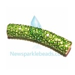 Long  Crystal  Spacer Green