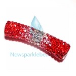 Long  Crystal  Spacer Red