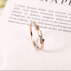 Stainless Steel, Rose Gold, Band width 1.5mm, size 8