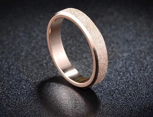 Stainless Steel, Rose glod, Band width 2mm, Size 9