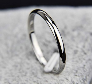 StainlessSteel, Silver, band, width2.25mm, size 6