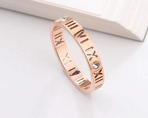 Stainless Steel, Rose gold, Band width 3mm, Size 9