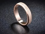 Stainless Steel, Rose glod, Band width 2mm, Size 6